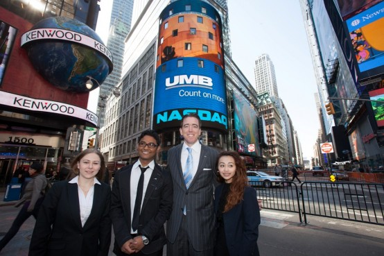 NASDAQ PHOTO - Video Contest Winners in Times Square2