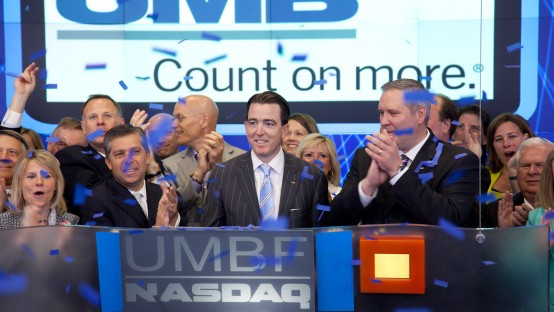 NASDAQ UMB Opening Bell_Kemper, deSilva, Hagedorn