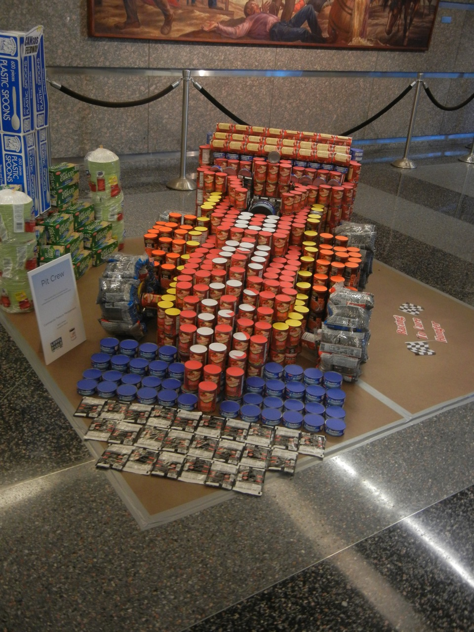 UMB CANstruction: A food drive for Harvesters – The Community Food