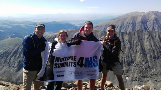MS4MS Team UMB Quandary Peak with Sign