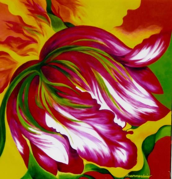 Flaming Tulip Janet Kummerlein