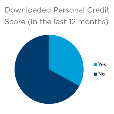 Pie Chart Downloaded Credit Report in Last 12 Months