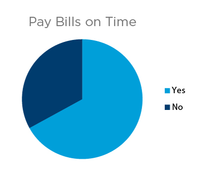 Pie Chart Pay Bills on Time