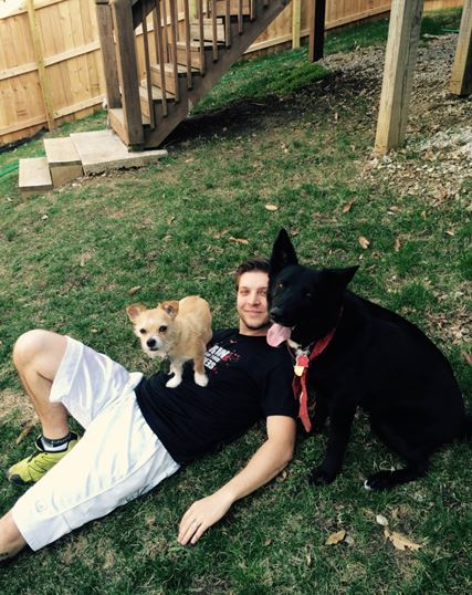 Ryan Gardner with dogs