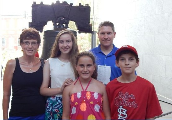 Phil Klevorn family at Liberty Bell