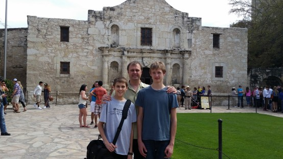 Huddleston family at the Alamo
