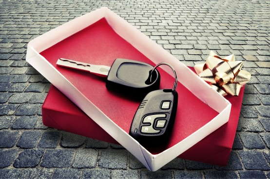 Car Gift New Christmas Key Bow Car Key