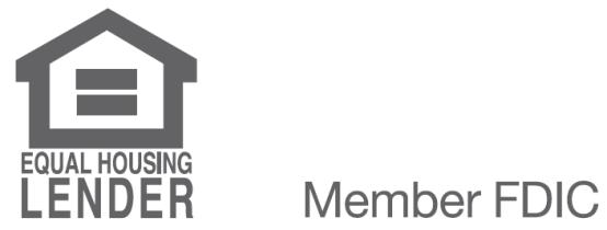 Equal Housing Lender and Member FDIC logo