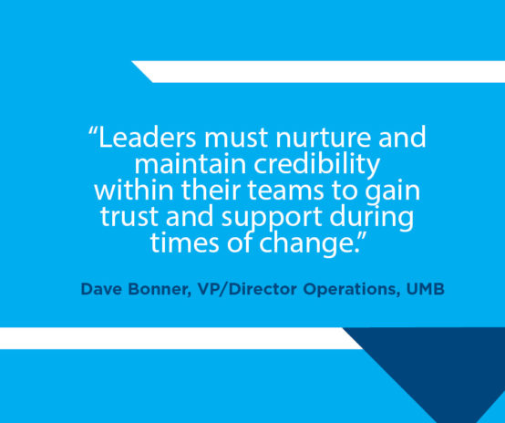 UMB Leadership quote by Dave Bonner