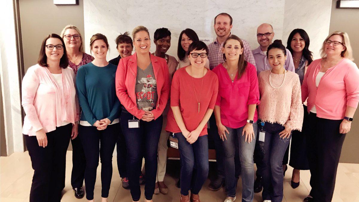 KC associates in pink