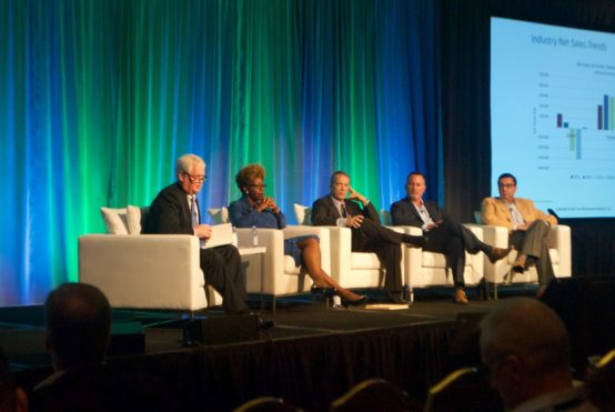A panel answers questions about asset servicing trends and challenges at the UMB Fund Services conference.