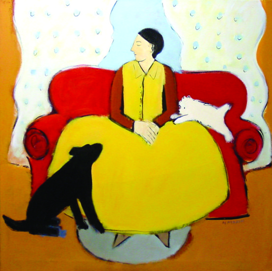 Fine art management: The Red Couch