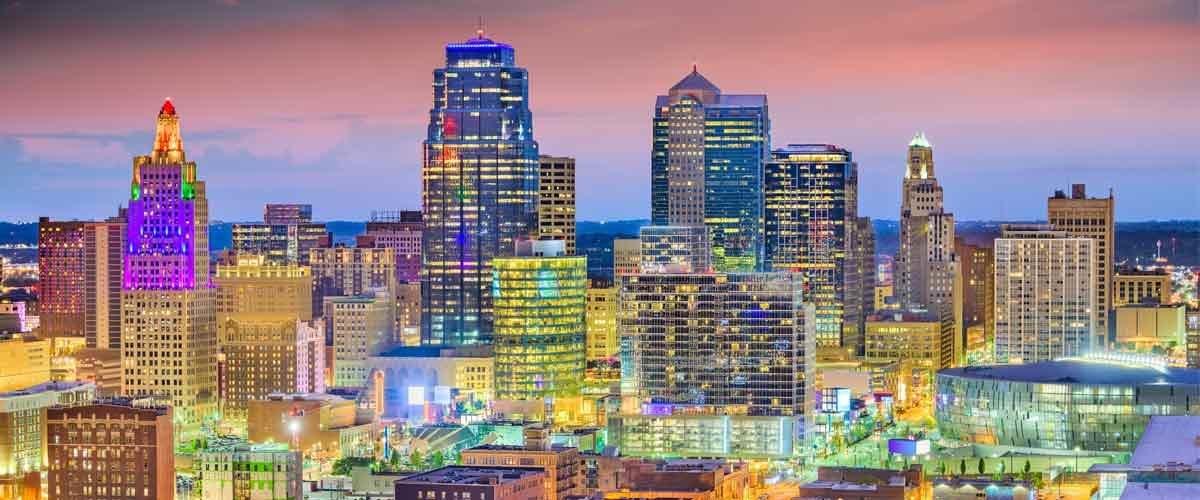 a skyline view of Kansas city commercial real estate