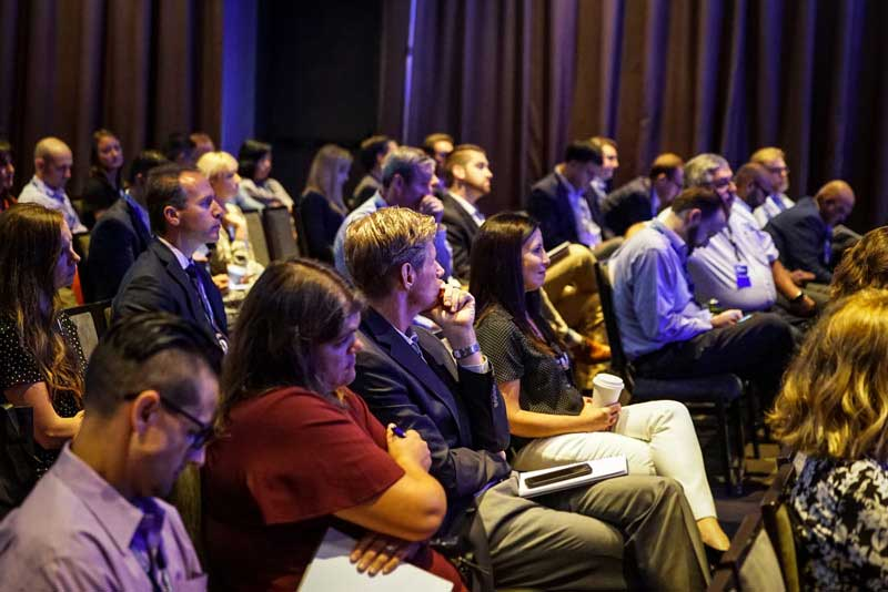 A picture of the audience listening to asset management challenges at the at the UMB Fund Services 2019 Asset Management conference
