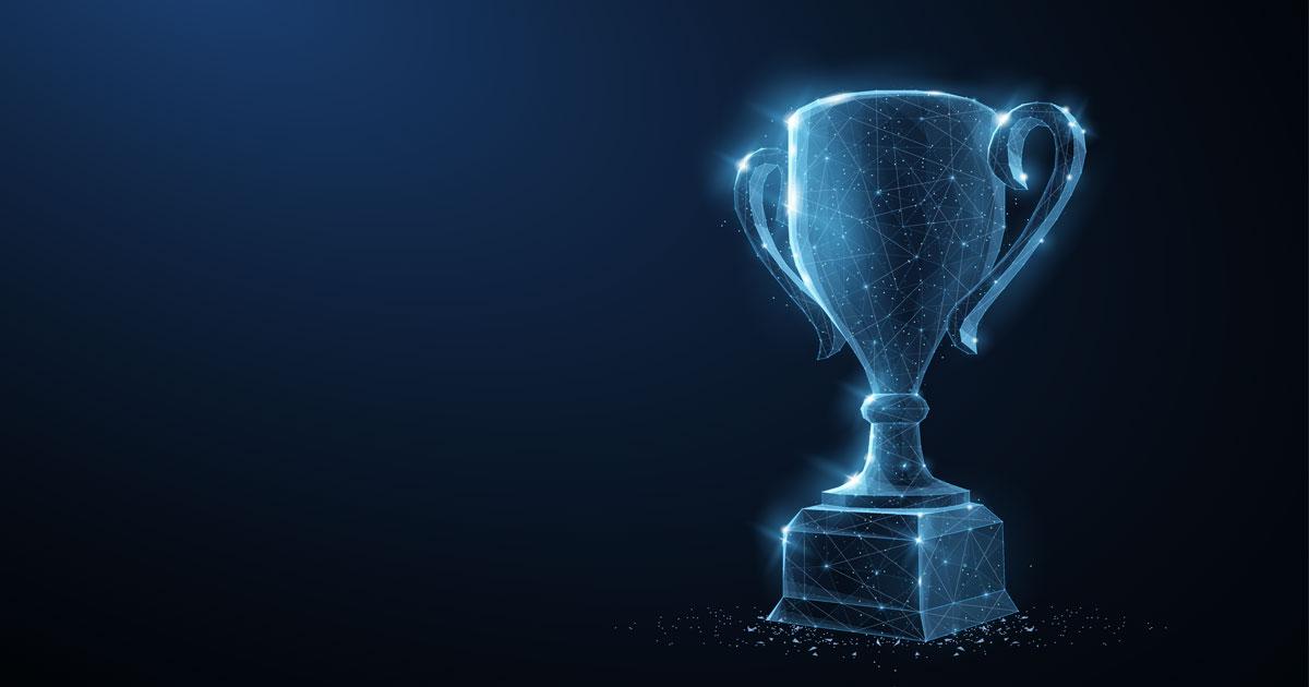 A trophy symbolizing UMB awards recap.