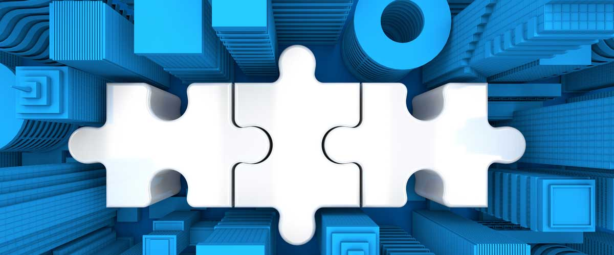 A puzzle piece represents UMB Corporate Trust acquiring Commerce Trust's Corporate Trust Business.
