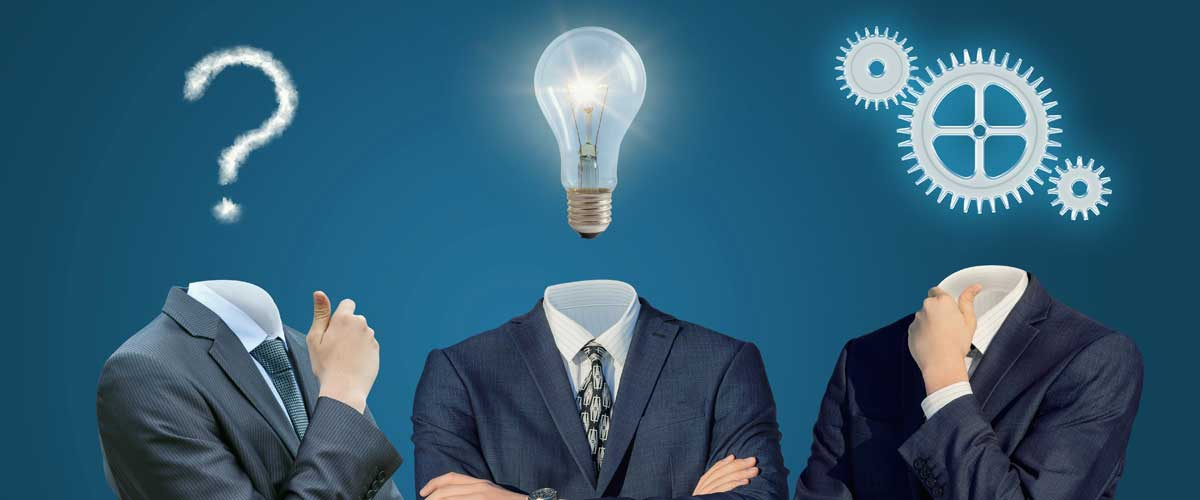 A question mark, a lightbulb, and a gear represent the three questions you should ask fund administrators.