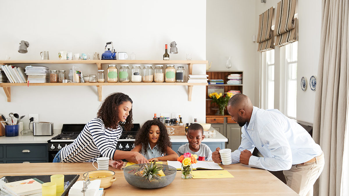 family-busy-in-kitchen