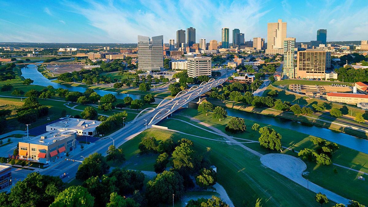 Texas aerial cityscape