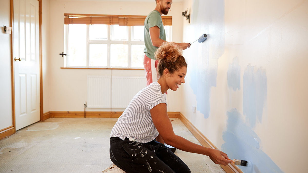 couple renovating with HELOC