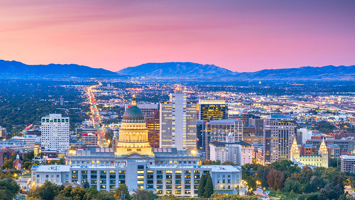 Utah business banking skyline