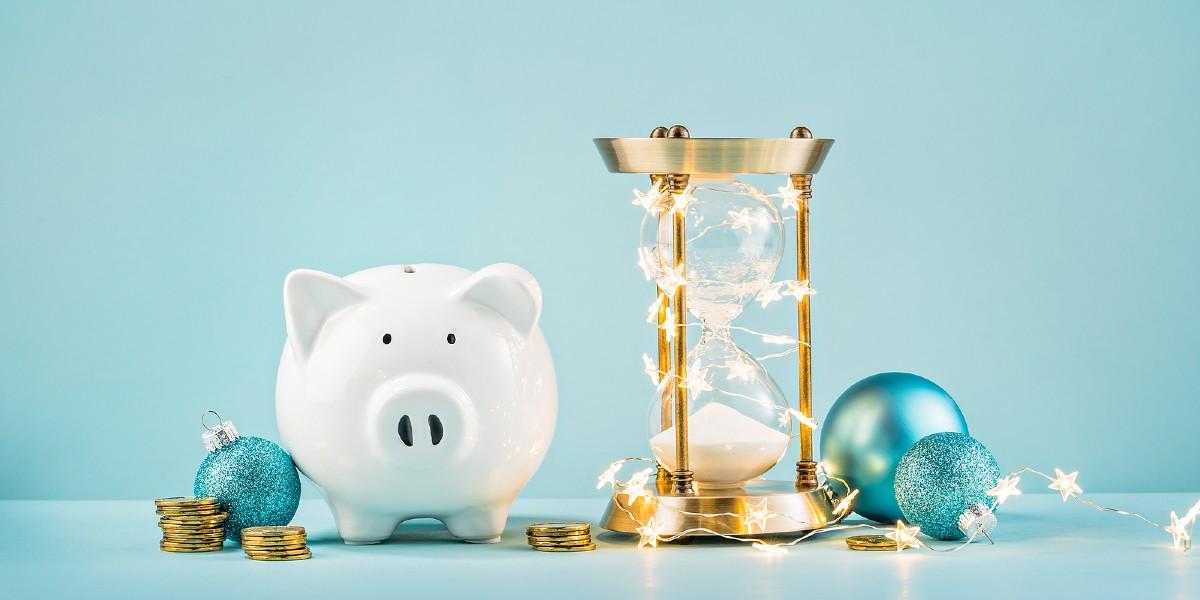 bigstock Piggy Bank And Rustic Hourglas 260866927 1