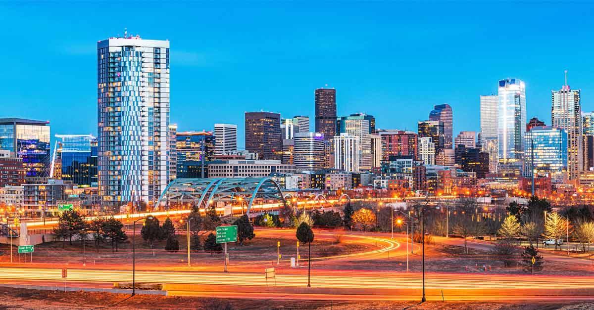 A picture of the Denver, Colorado, skyline where UMB's Bo Scott works.